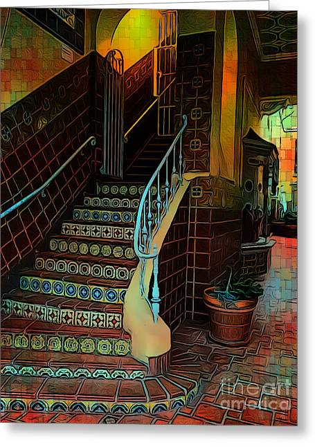 Cobblestone And Tile Greeting Card