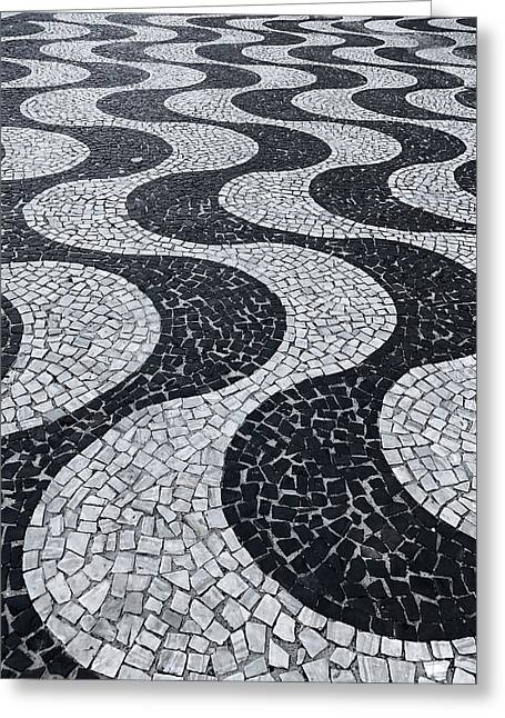 Cobblestone Waves Greeting Card