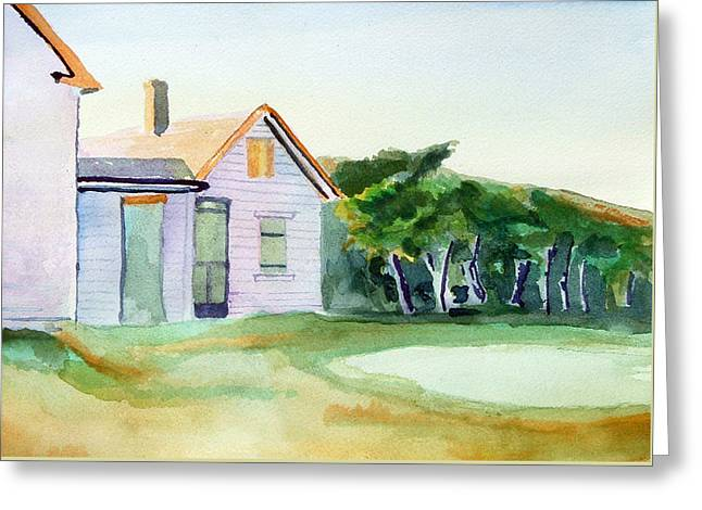 Cobb's House After Edward Hopper Greeting Card