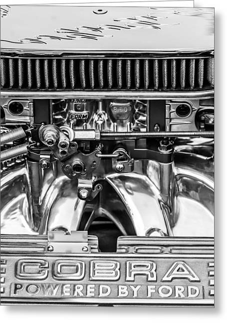 Cobra By Ford 427 Engine -ck178bw Greeting Card by Jill Reger