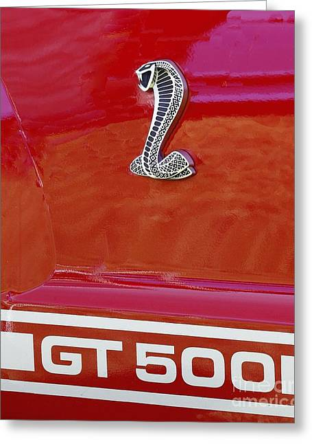 Cobra Gt 500 Emblem Greeting Card