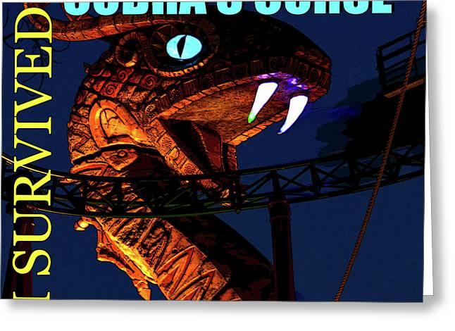 Cobras Curse Survivor Poster Greeting Card by David Lee Thompson
