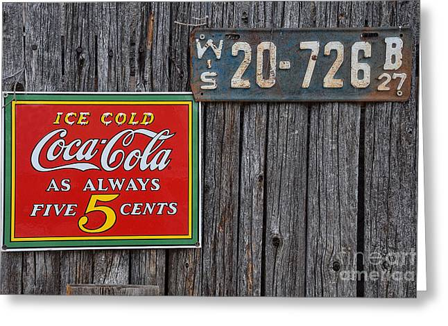 Coca Cola - Always Five Cents Greeting Card by Mary Machare