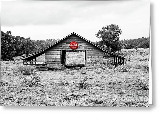 Coca Cola Barn - Selective Color Greeting Card