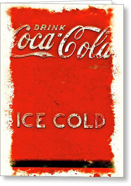 Coca-cola Cooler Greeting Card by Stephen Anderson