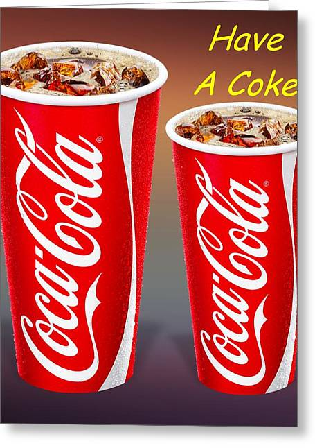 Coca Cola Customized  Greeting Card by Movie Poster Prints