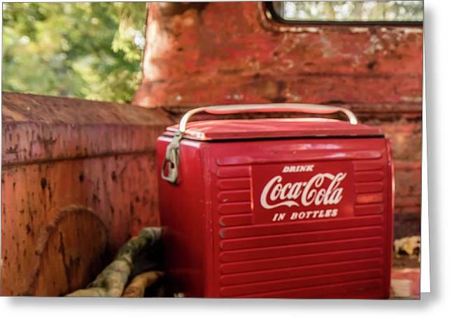 Coca-cola Greeting Card by Cynthia Wolfe
