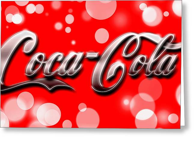 Coca Cola Electric Bokeh Greeting Card