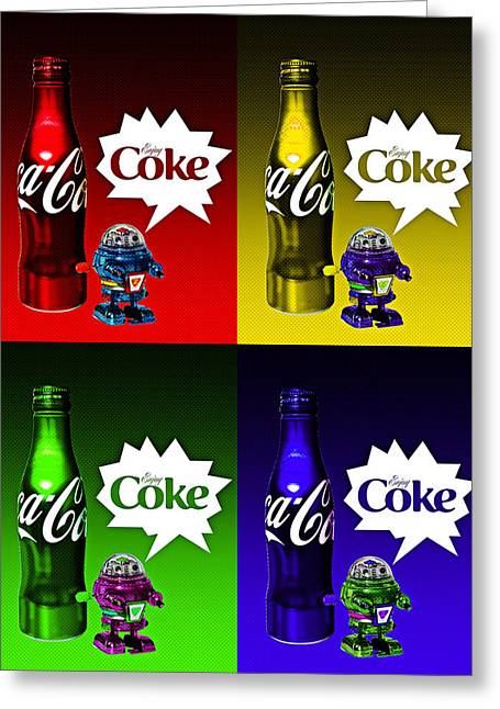 Greeting Card featuring the photograph Coca-cola Forever Young 12 by James Sage