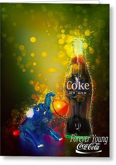 Greeting Card featuring the photograph Coca-cola Forever Young 3 by James Sage
