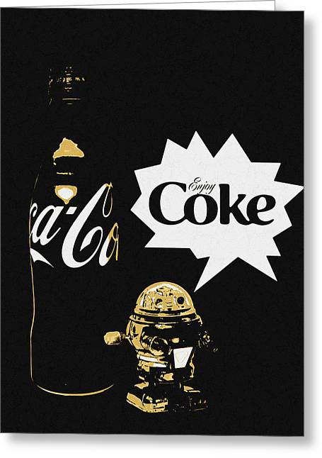 Greeting Card featuring the photograph Coca-cola Forever Young 7 by James Sage