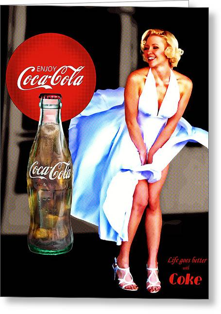 Coca Cola Girl Marilyn Greeting Card