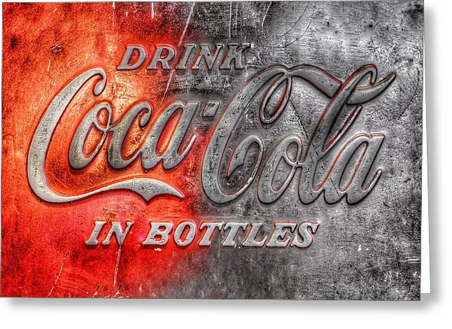 Coca Cola Greeting Card by Marianna Mills