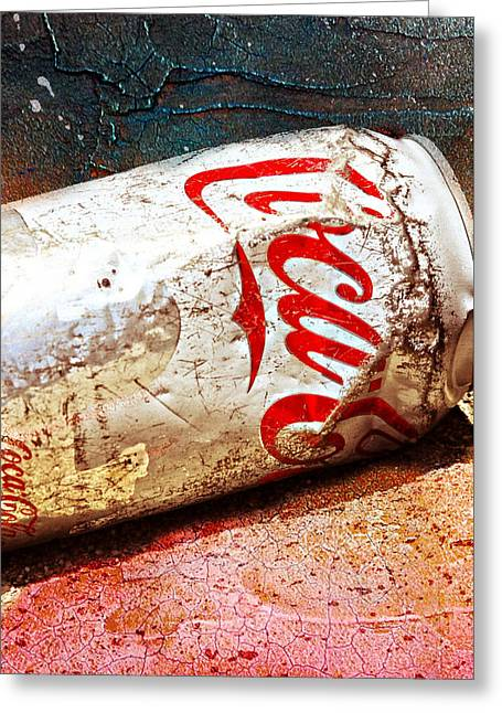 Greeting Card featuring the photograph Coca Cola On The Rocks By Mike-hope by Michael Hope