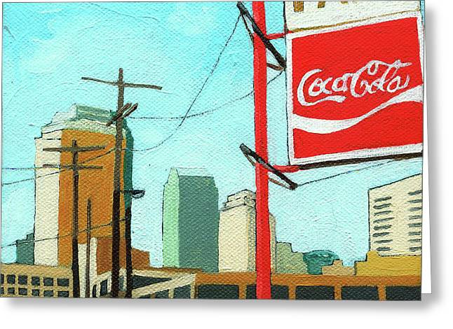 Coca Cola Park Greeting Card by Linda Apple