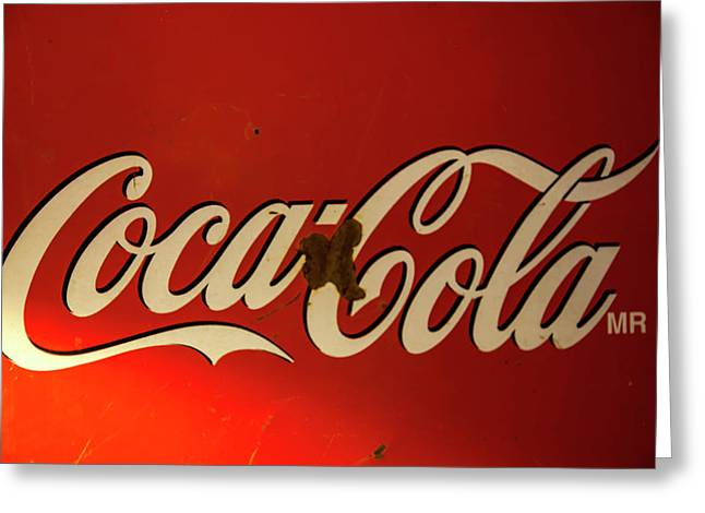 Coca-cola Sign  Greeting Card by Toni Hopper