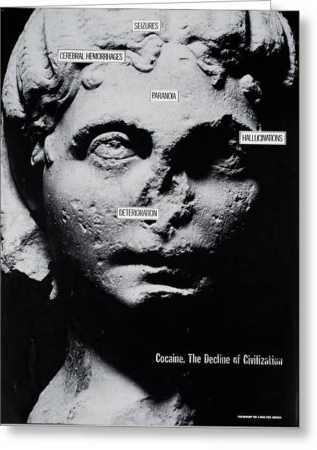 Cocaine, The Decline Of Civilization Ad  Greeting Card