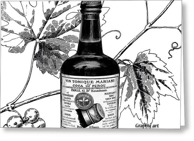 Cocaine Wine 1885 Greeting Card by Garland Johnson