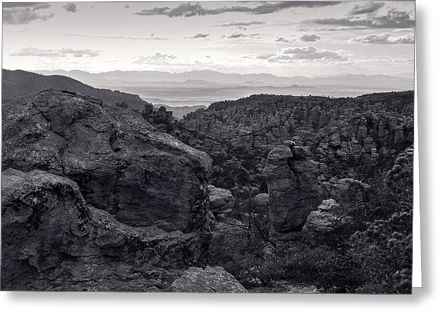 Cochise Stronghold- West Greeting Card by Richard Rivard