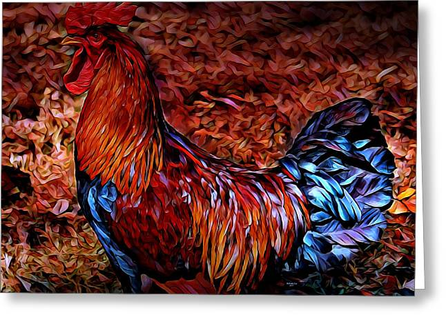 Cock Rooster Greeting Card