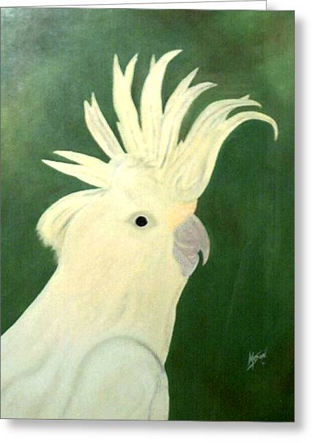 Cockatoo Greeting Card by Guillermo Mason