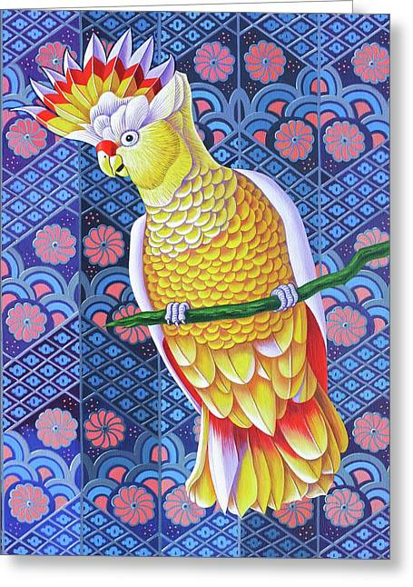 Cockatoo Greeting Card by Jane Tattersfield