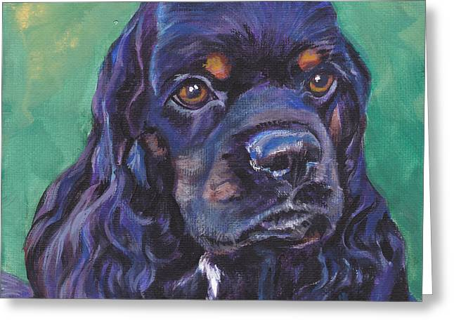 Cocker Spaniel Head Study Greeting Card by Lee Ann Shepard