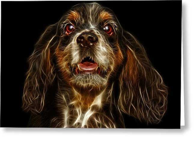 Cocker Spaniel Pop Art - 8249 - Bb Greeting Card