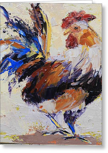 Cockrell Two Greeting Card by Yvonne Ankerman