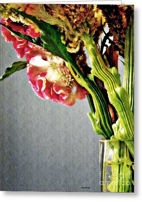 Greeting Card featuring the photograph Cockscomb Bouquet 5 by Sarah Loft