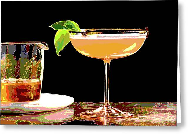 Cocktail And Dreams Greeting Card