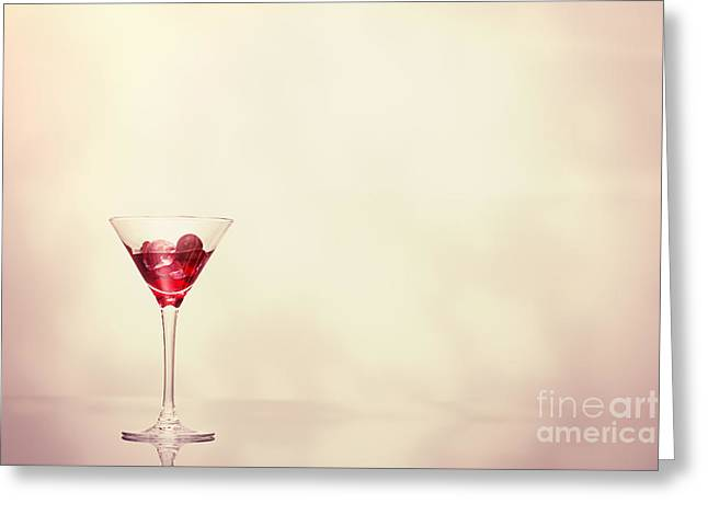 Cocktail In Art Deco Glass Greeting Card by Amanda Elwell