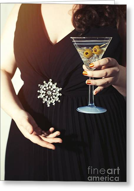 Cocktail Party Greeting Card by Amanda Elwell