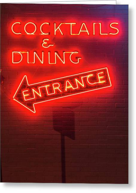 Cocktails And Dining Greeting Card