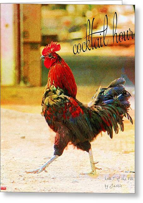 Cocky Rooster's Cocktail Hour Greeting Card