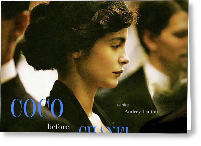 Coco Before Chanel, Starring Audrey Tautou, Coco Chanel Greeting Card by Thomas Pollart