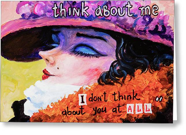 Greeting Card featuring the painting Coco Chanel by Igor Postash