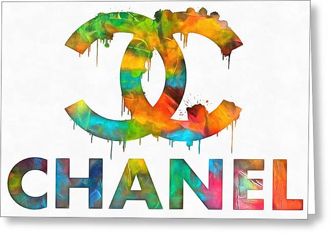 Coco Chanel Paint Splatter Color Greeting Card