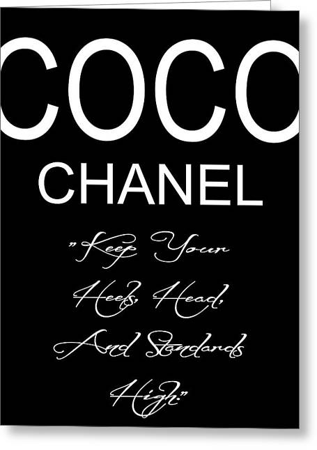 Coco Chanel Quote 2 Greeting Card