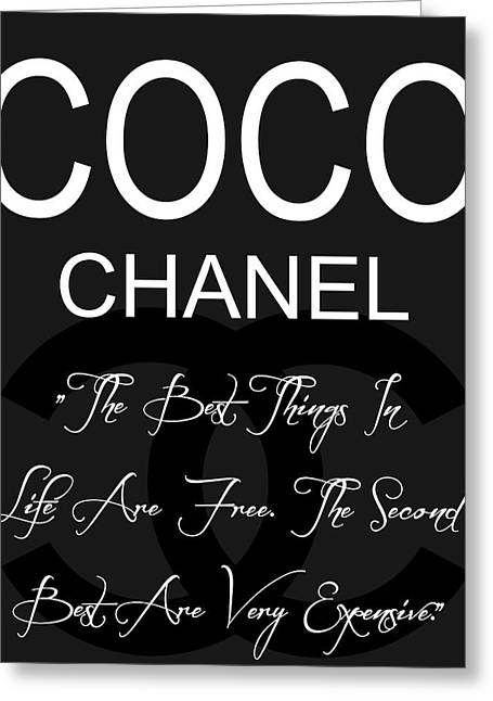 Coco Chanel Quote 3 Greeting Card