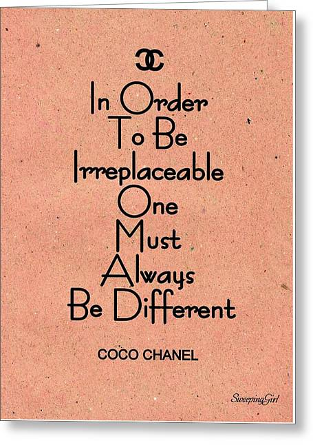 Coco -chanel Greeting Card