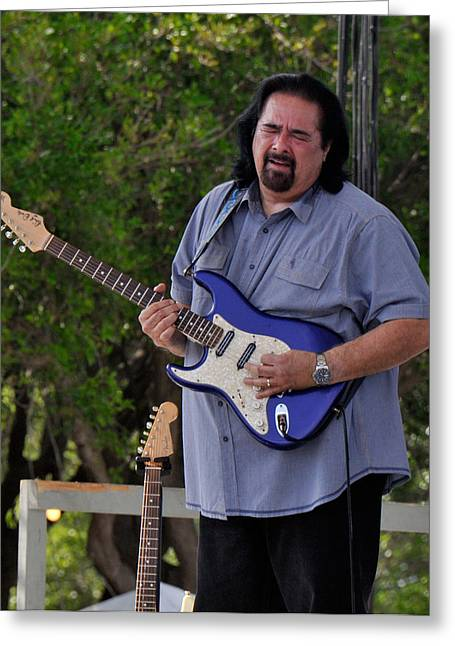 Coco Montoya And His Ocean Blue Fender American Standard Stratoc Greeting Card