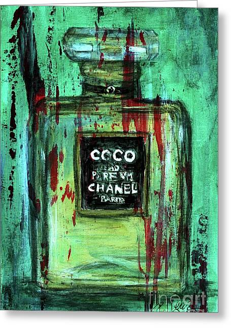Greeting Card featuring the painting Coco Potion by P J Lewis