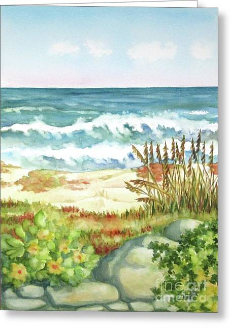 Greeting Card featuring the painting Cocoa Beach Afternoon by Inese Poga