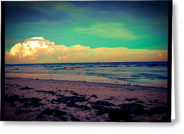 Cocoa Beach At Dusk Greeting Card