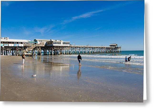 Cocoa Beach Florida Greeting Card by Allan  Hughes