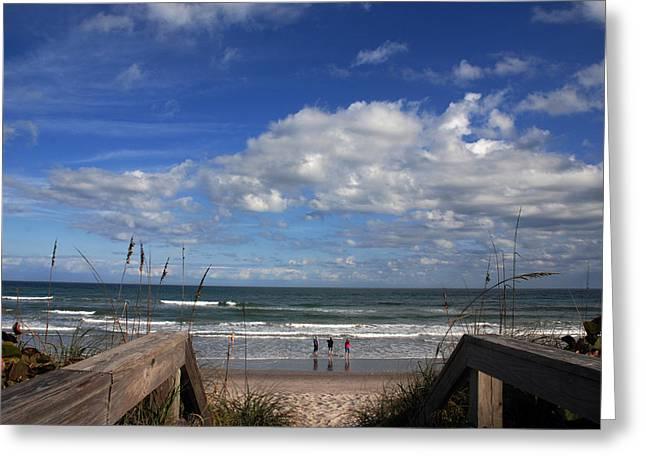 Cocoa Beach Florida Greeting Card by Susanne Van Hulst