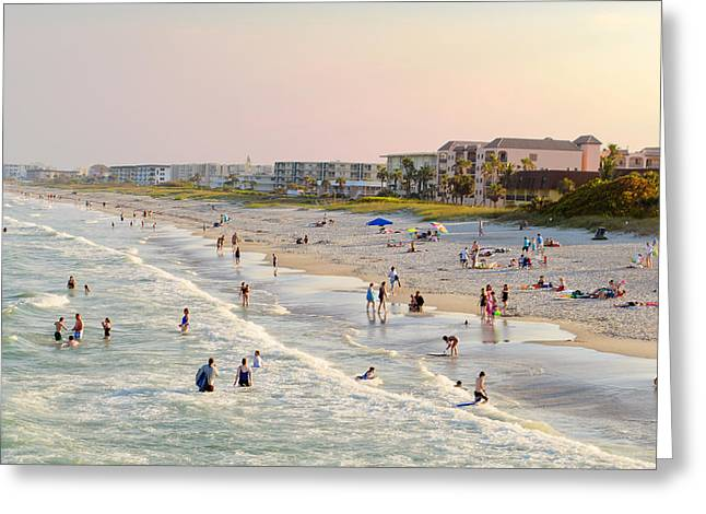 Cocoa Beach Greeting Card by Laura DAddona