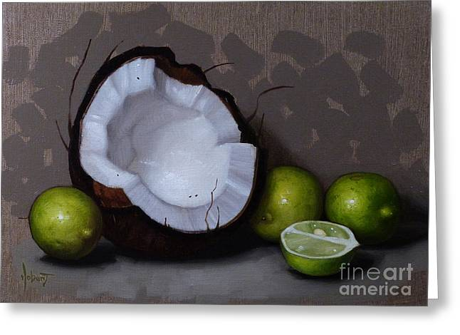 Coconut And Key Limes V Greeting Card by Clinton Hobart