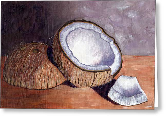 Coconut Anyone? Greeting Card by Laura Forde